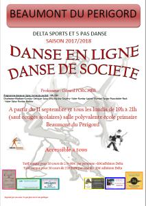 Danse en ligne.de société 2017.2018