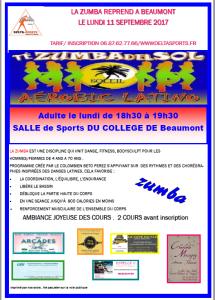 affiche zumba A 2017-2018