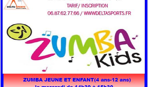 Reprise des cours le MERCREDI 8 NOVEMBRE avec Sarah (nouvelle coach) Cours de Zumba enfants/jeunes de 4 à 12 ans de 14h00 à 15h00 tous les Mercredis. Les cours se...