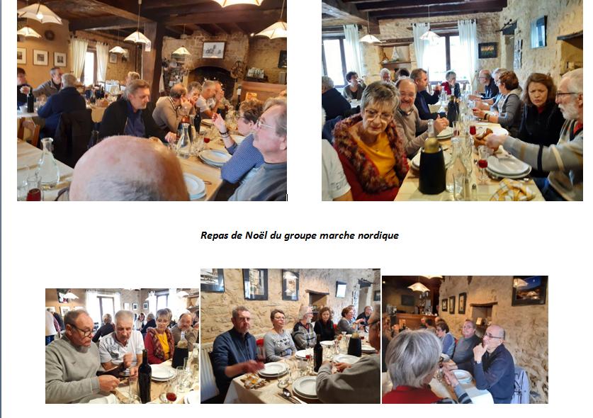 Repas de Noël du groupe marche nordique 2019